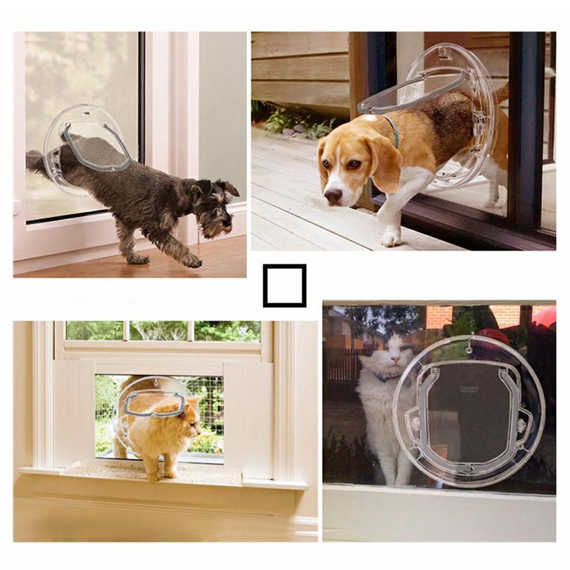 Petacc Dustproof Cat Door Functional Kitty Door Practical Pet Door for Cats and Small-sized Dogs Specially for Glass Door & Petacc Dustproof Cat Door Functional Kitty Door Practical Pet Door ...