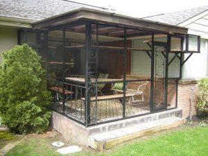 enclosed cat patio